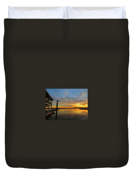 Gull Sunset Duvet Cover