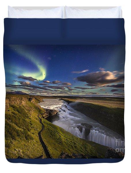Gullfoss Iceland Duvet Cover
