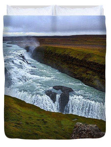 Gullfoss Waterfall #2 - Iceland Duvet Cover