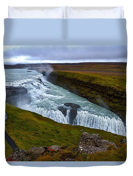 Gullfoss Waterfall #2 - Iceland Duvet Cover