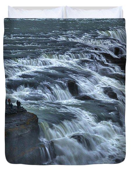 Gullfoss Waterfall #6 - Iceland Duvet Cover