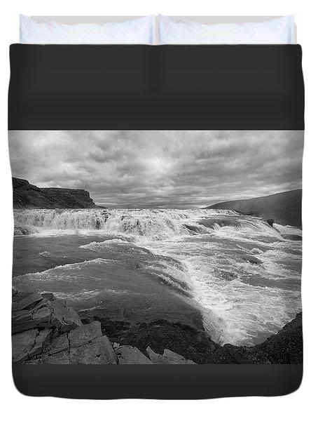 Duvet Cover featuring the photograph Gullfoss Waterfall No. 1 by Joe Bonita