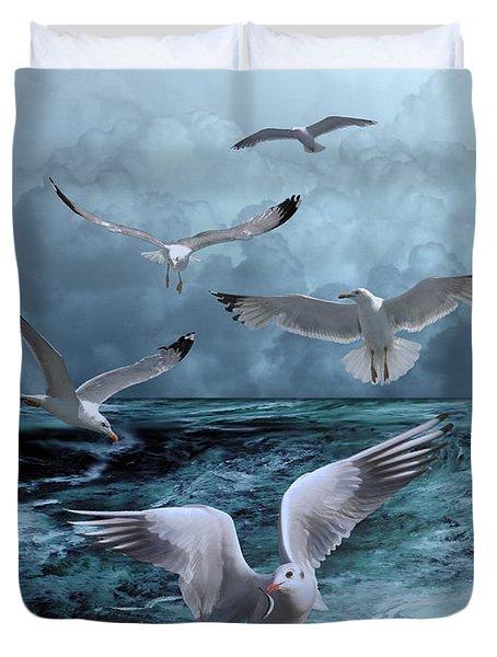 Gulls' Banquet Duvet Cover
