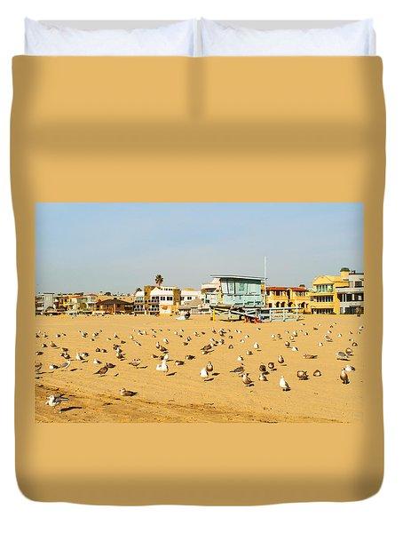 Gulls On Sand Duvet Cover