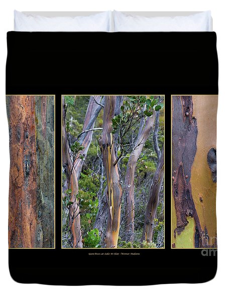 Gum Trees At Lake St Clair Duvet Cover by Werner Padarin