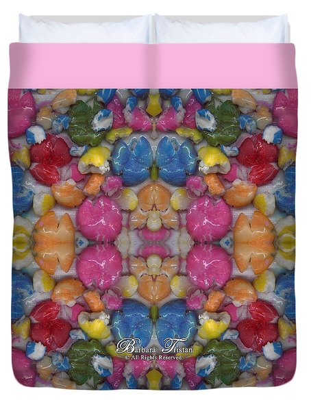 Gumballs #0000a_2 Duvet Cover by Barbara Tristan