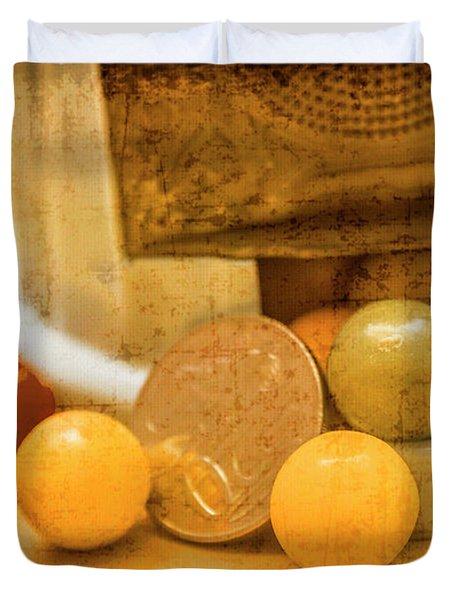Gumballs Dispenser Antiques Duvet Cover