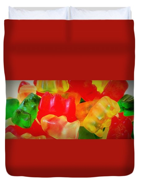Gummies Duvet Cover by Martin Cline