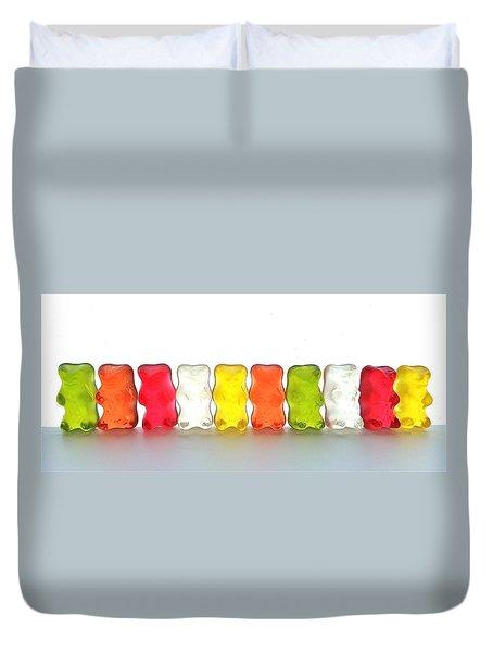 Gummy Bears In A Row Duvet Cover