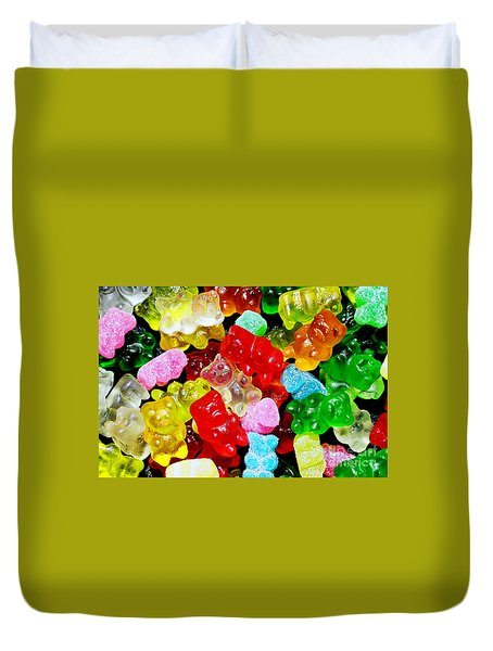 Duvet Cover featuring the photograph Gummy Bears by Vivian Krug Cotton