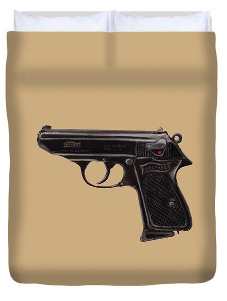 Gun - Pistol - Walther Ppk Duvet Cover