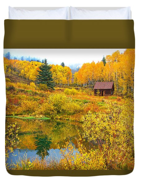 Gunnison Reflection  Duvet Cover by Bijan Pirnia