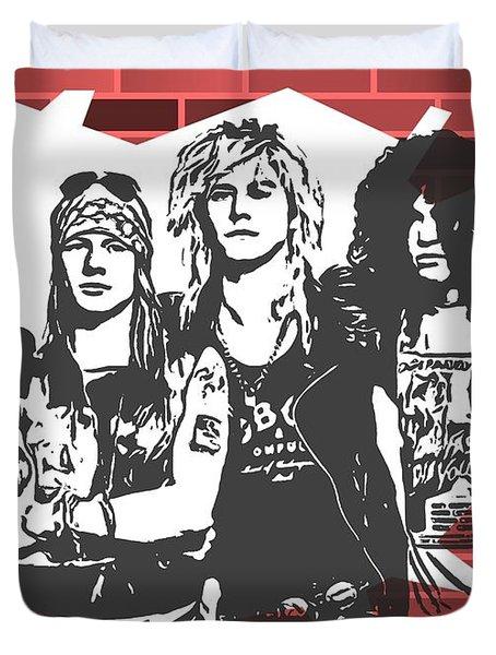 Guns N Roses Graffiti Tribute Duvet Cover