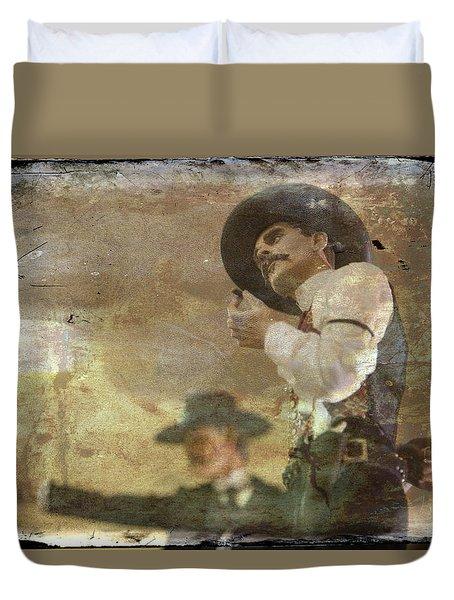 Gunslinger II Doc Holliday Duvet Cover by Toni Hopper