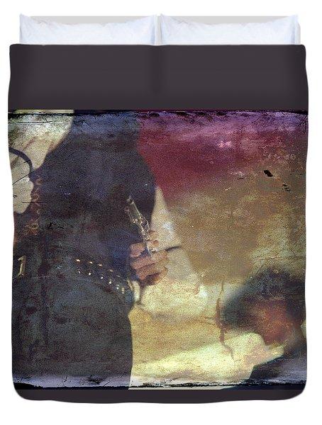 Gunslinger Duvet Cover by Toni Hopper