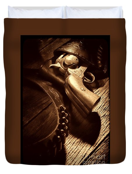Gunslinger Tool Duvet Cover by American West Legend By Olivier Le Queinec