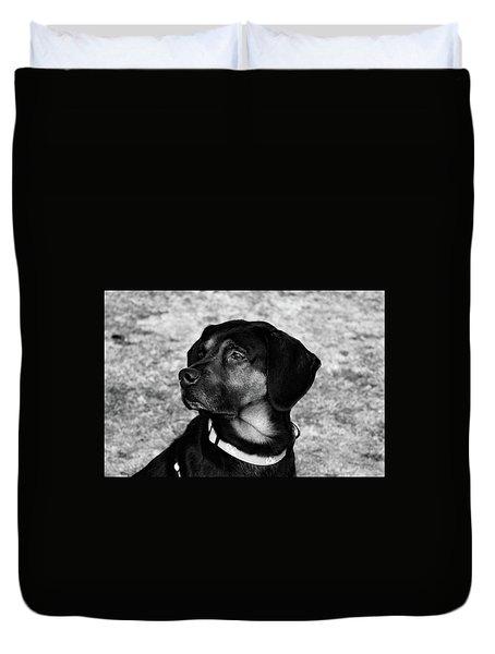 Gus - Black And White Duvet Cover