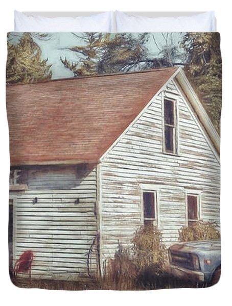 Gus Klenke Garage Duvet Cover
