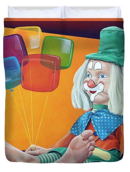 Gustav With Balloons Duvet Cover