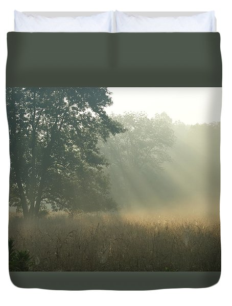 Duvet Cover featuring the photograph Guten Morgen by Heidi Poulin