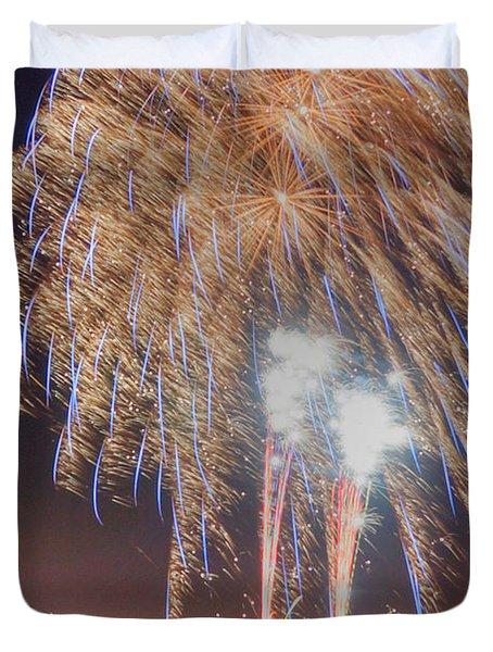 Guy Fawkes Night Fireworks Duvet Cover