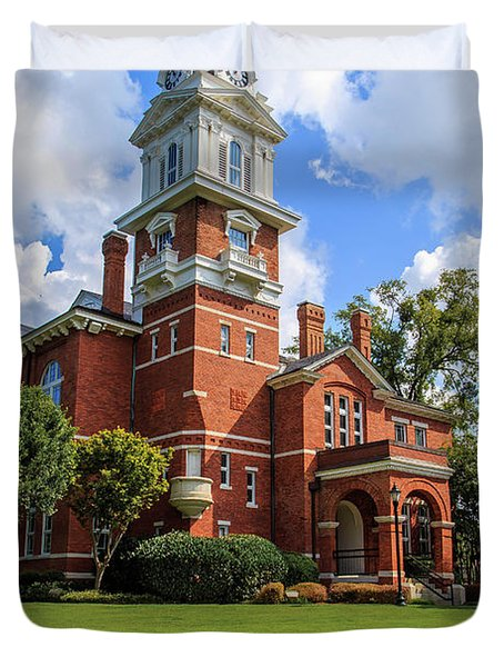 Gwinnett County Historic Courthouse Duvet Cover