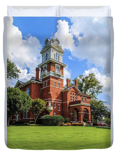 Duvet Cover featuring the photograph Gwinnett County Historic Courthouse by Doug Camara