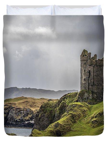 Gylen Castle On Kerrera In Scotland Duvet Cover