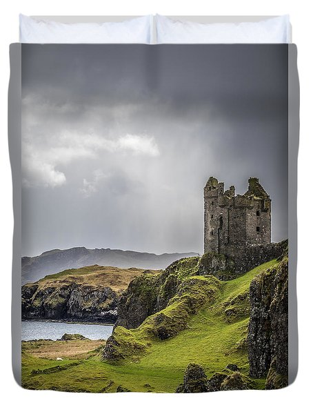Gylen Castle On Kerrera In Scotland Duvet Cover