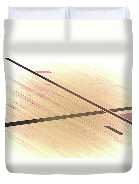 Gym Floor Duvet Cover