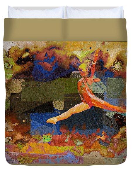 Gymnast Girl Duvet Cover
