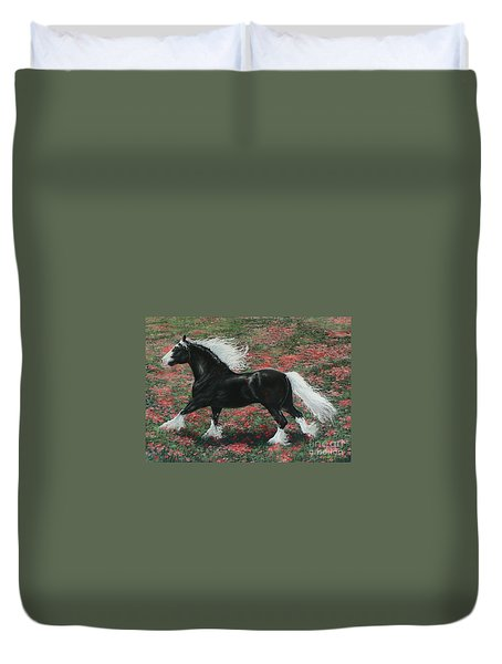 Gypsy Fire Duvet Cover by Louise Green
