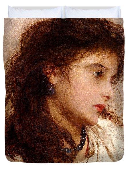Gypsy Girl Duvet Cover by George Elgar Hicks