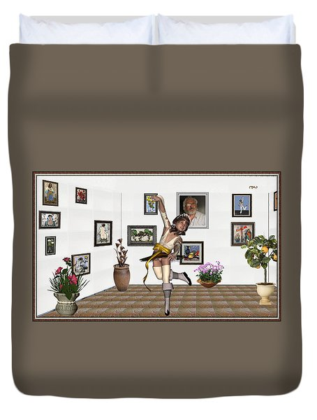 Digital Exhibartition _  Dancing Girl  Duvet Cover by Pemaro