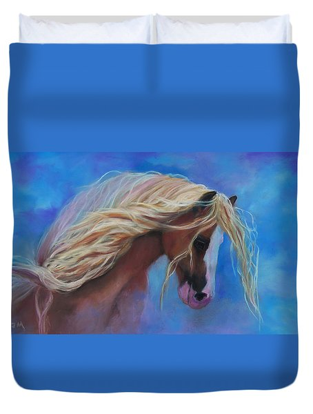 Duvet Cover featuring the pastel Gypsy In The Wind by Karen Kennedy Chatham