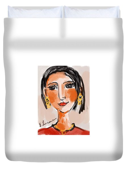 Gypsy Lady Duvet Cover by Elaine Lanoue