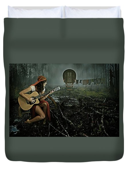 Gypsy Life Duvet Cover by Mihaela Pater