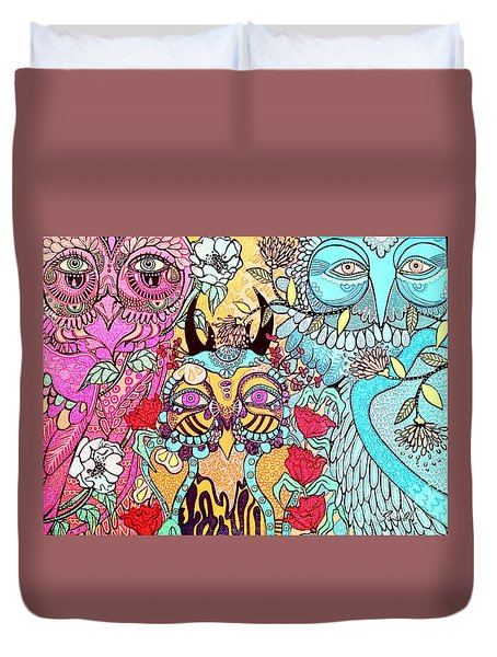 Gypsy Owl Duvet Cover by Amy Sorrell
