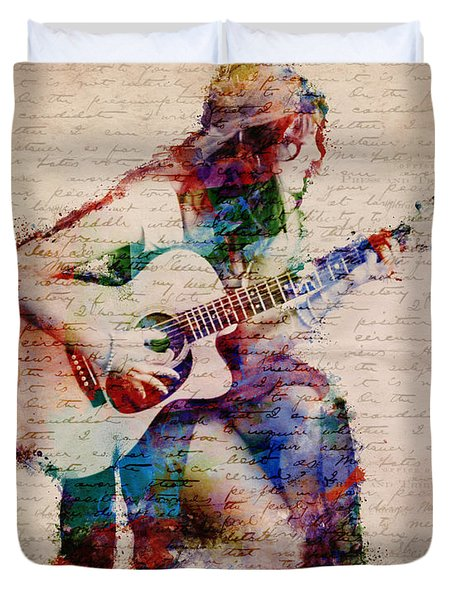 Duvet Cover featuring the digital art Gypsy Serenade by Nikki Smith