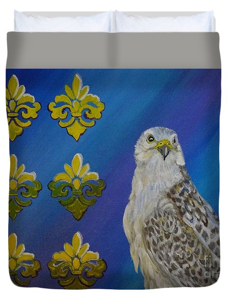 Gyr Falcon Duvet Cover by Isabel Proffit