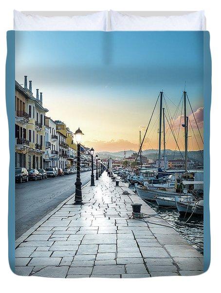 Gythion / Greece Duvet Cover