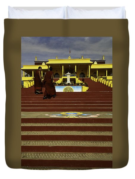Gyuto Monastery Duvet Cover by Rajiv Chopra