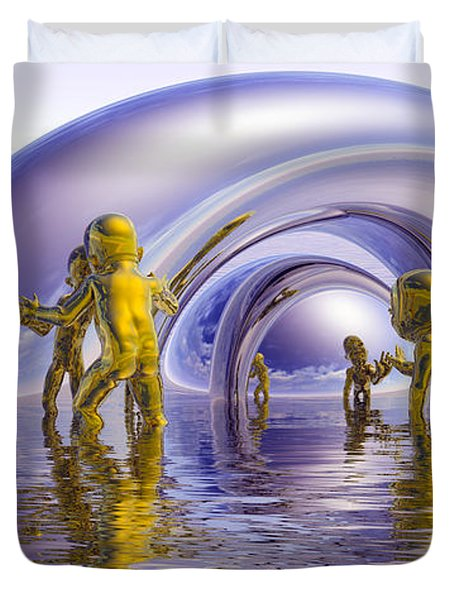 H2O Duvet Cover by Robby Donaghey