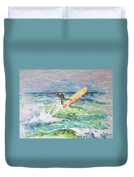 Duvet Cover featuring the painting H2ooh by William Love