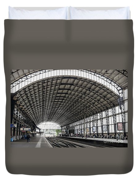 Haarlem, Train Station Duvet Cover by Patricia Hofmeester