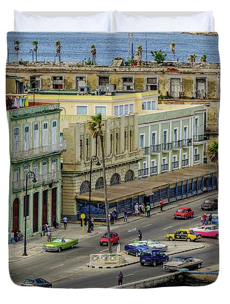 Duvet Cover featuring the photograph Habana Havana  by Steven Sparks