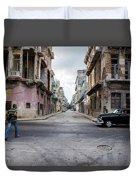 Habana Vieja Horizon Duvet Cover