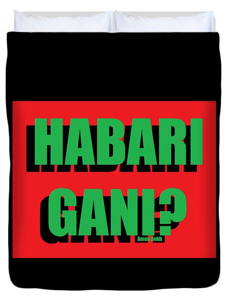 Habari Gani Duvet Cover