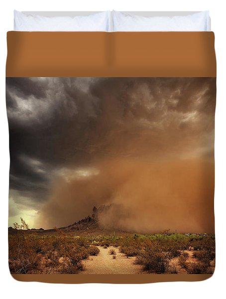 Haboob Is Coming Duvet Cover