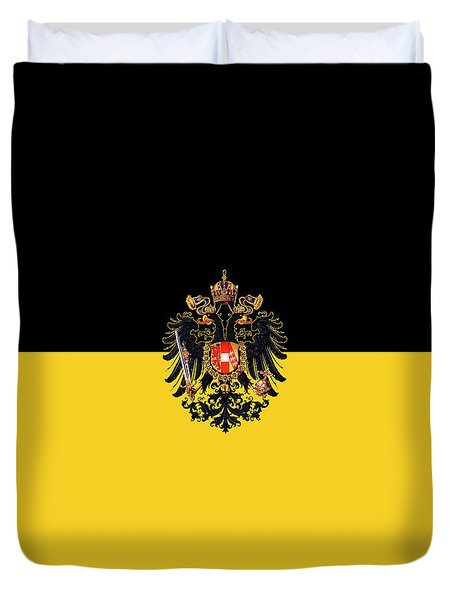 Habsburg Flag With Imperial Coat Of Arms 3 Duvet Cover